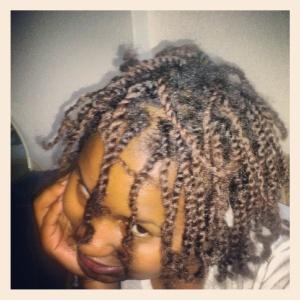 My hair in fresh twists